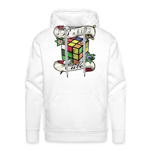 Rubik's Cube Tatoo - Herre Premium hættetrøje