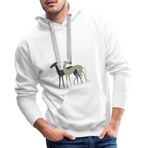 Zwei Windhunde - Männer Premium Hoodie