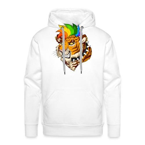 Punk Tiger - Bluza męska Premium z kapturem