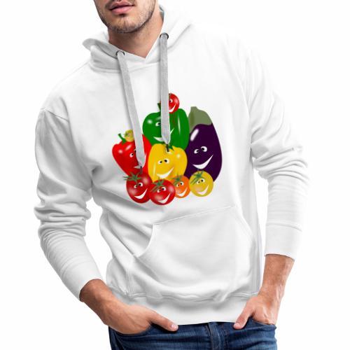 I love vegetables - Men's Premium Hoodie