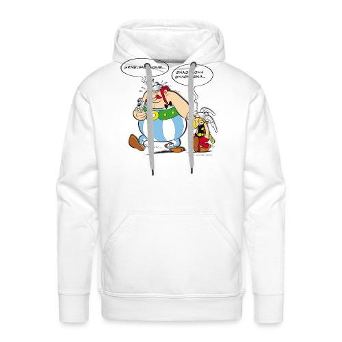 Asterix & Obelix boudeur - Sweat-shirt à capuche Premium pour hommes