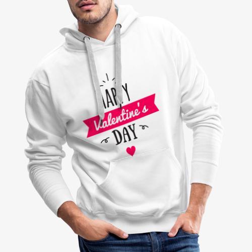 St Valentin - Sweat-shirt à capuche Premium pour hommes