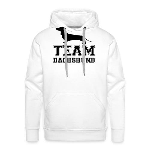team-dachshund - Felpa con cappuccio premium da uomo