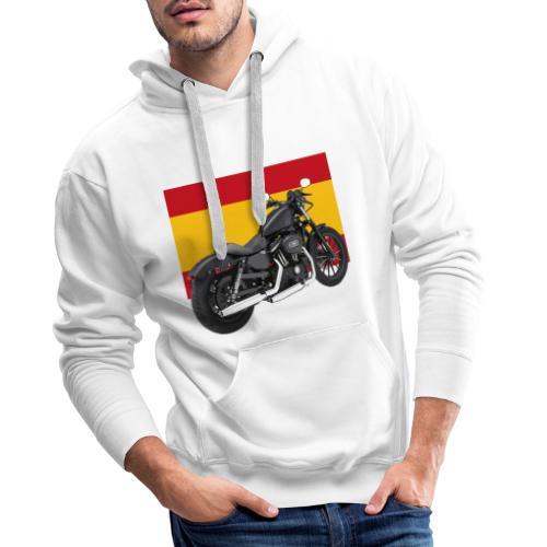 moto con la bandera de España - Sudadera con capucha premium para hombre