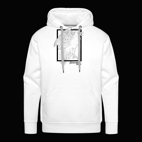 Nevermore in Black - Sudadera con capucha premium para hombre