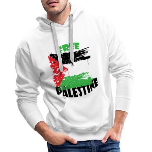 free palestine - Sweat-shirt à capuche Premium pour hommes