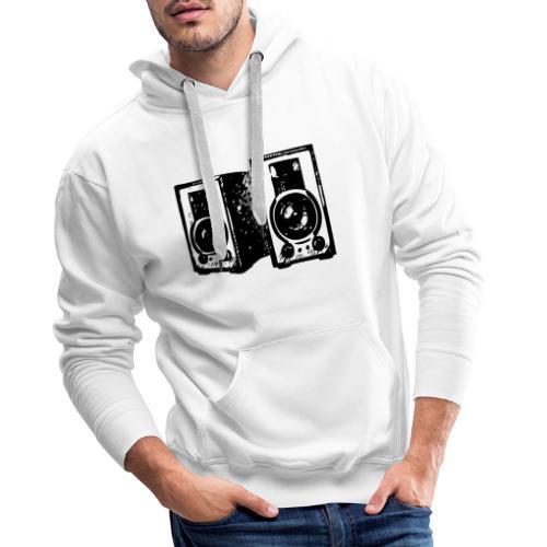 DJ Symbol Musik Musiker Musikboxen - Männer Premium Hoodie