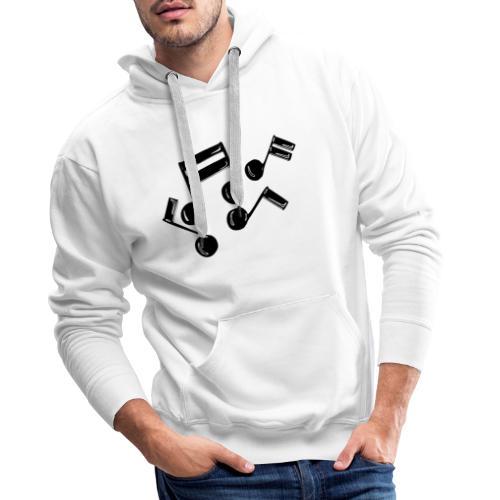 Musik Symbol Noten Musiker Musikerin spielen - Männer Premium Hoodie