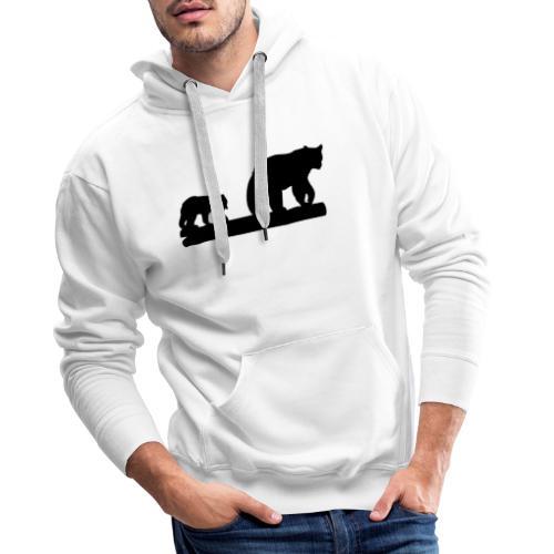 Bären Bär Grizzly Wildnis Natur Raubtier - Männer Premium Hoodie