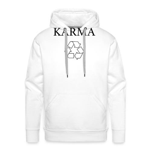 Karma Recycle - Bluza męska Premium z kapturem