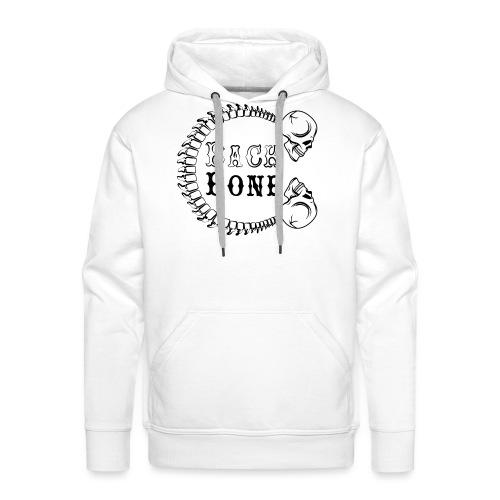 logo BlackBone noir - Sweat-shirt à capuche Premium pour hommes