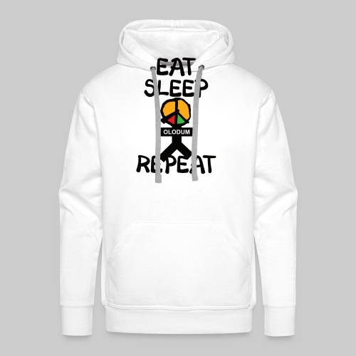 eat sleep olodum repeat - Männer Premium Hoodie