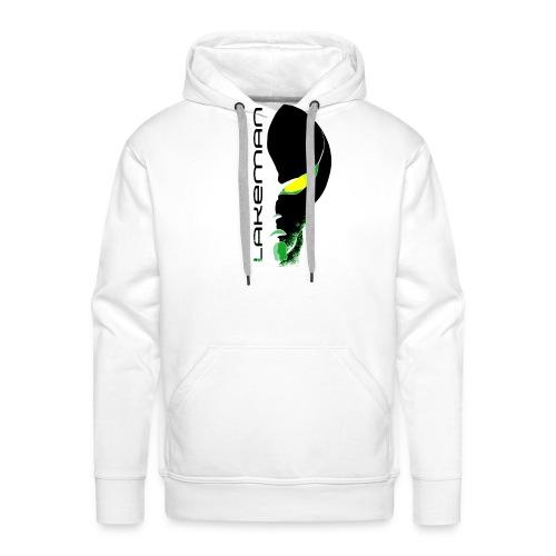 Lakeman Logo Face schwarz ohne Hintergrund - Männer Premium Hoodie