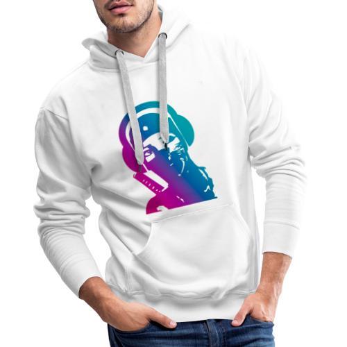 ninja headphone headphones, ninja, music, gaming - Sweat-shirt à capuche Premium pour hommes