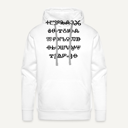 glagolica - Bluza męska Premium z kapturem