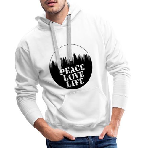 Peace Love Life - Männer Premium Hoodie
