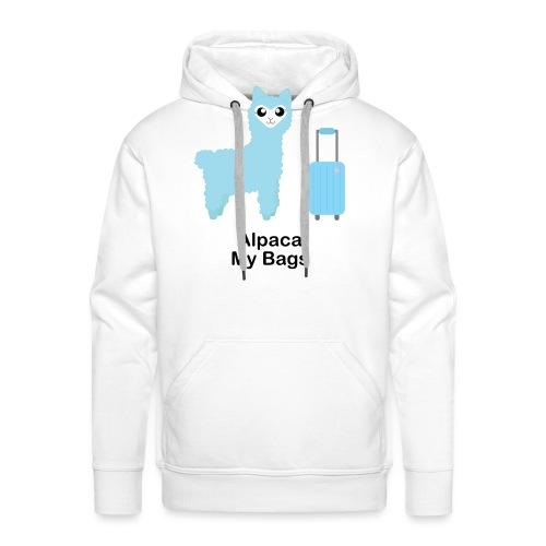 Alpaca My Bags (Blue) - Men's Premium Hoodie