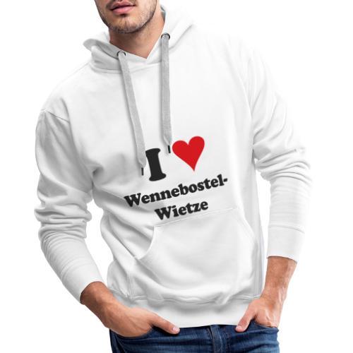 I Love Wennebostel-Wietze - Männer Premium Hoodie