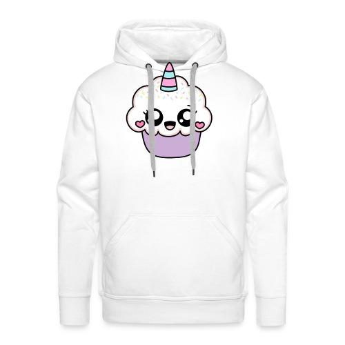 Cupcake licorne kawaii - Cute unicorn cupcake - Sweat-shirt à capuche Premium pour hommes