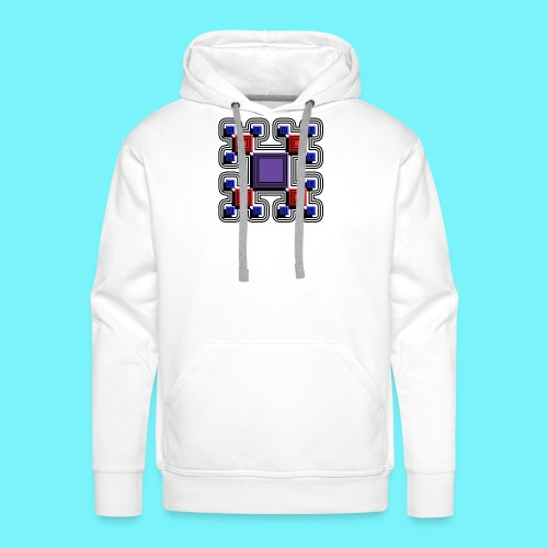 Blocks with lines and solid shadows - Men's Premium Hoodie