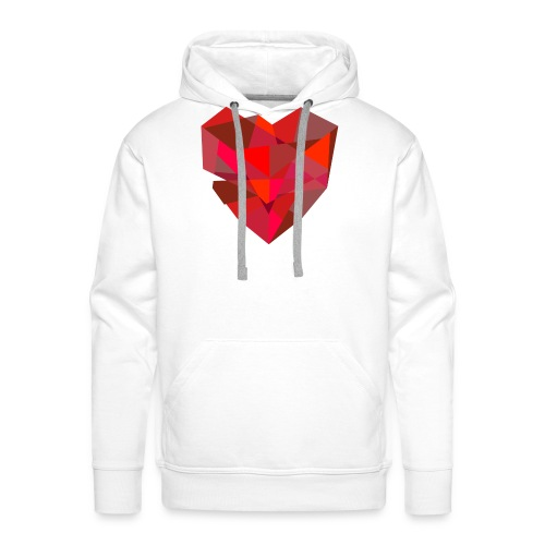 Poly-Heart - Sudadera con capucha premium para hombre