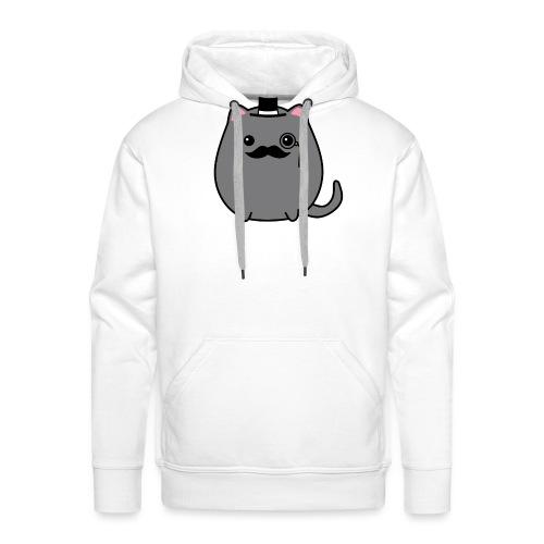 Gentleman Katze - Männer Premium Hoodie