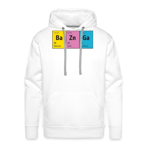 Periodensystem BaZnGa Nerd Geek Big Bang Urknall - Men's Premium Hoodie