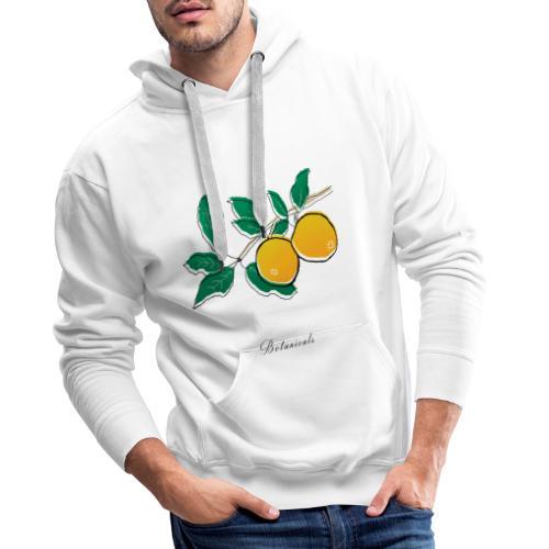 Disegno pianta di arance - Felpa con cappuccio premium da uomo