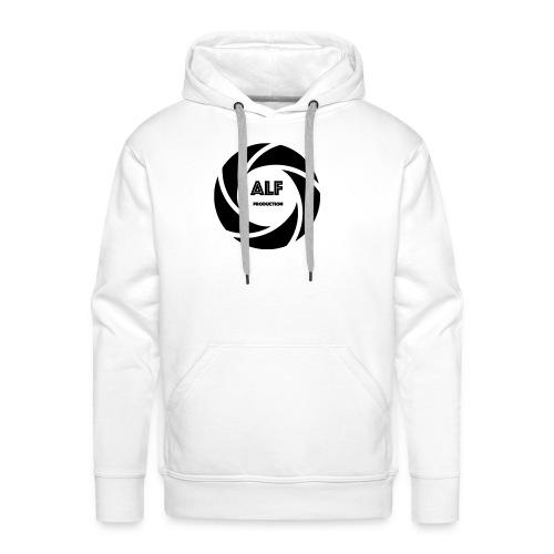 Logo Nero - Felpa con cappuccio premium da uomo