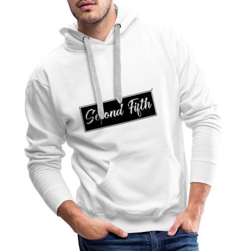 Logo Background noir Second Fifth - Sweat-shirt à capuche Premium pour hommes