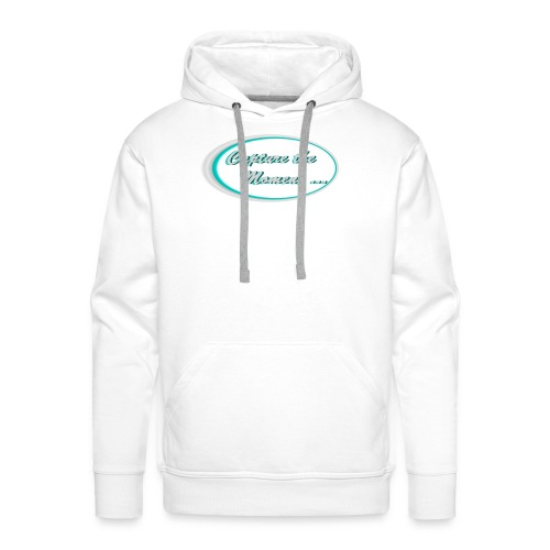 Logo capture the moment photography slogan - Men's Premium Hoodie