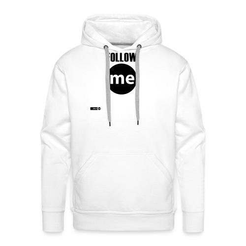 follow me - Sweat-shirt à capuche Premium pour hommes