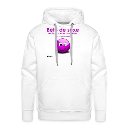 bête sexe smiley - Sweat-shirt à capuche Premium pour hommes