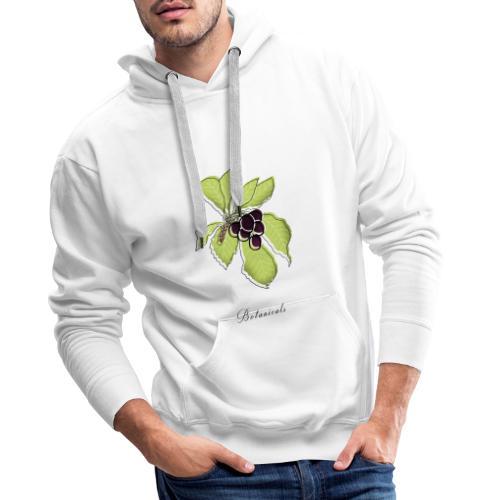 Disegno pianta di bacche - Felpa con cappuccio premium da uomo