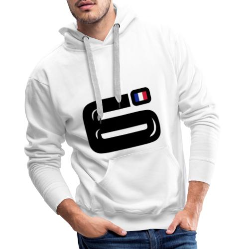 6bulle Bleu-Blanc-Rouge - Sweat-shirt à capuche Premium pour hommes