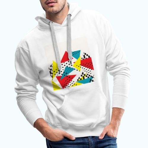 Abstract vintage collage - Men's Premium Hoodie