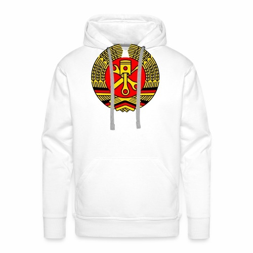 DDR Tuning Coat of Arms 3c (+ Your Text) - Men's Premium Hoodie