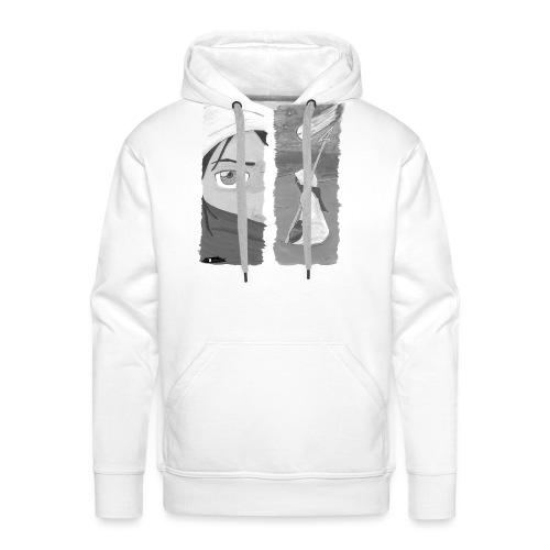 2panels #1 Ankunft (schwarz-weiß) - Männer Premium Hoodie
