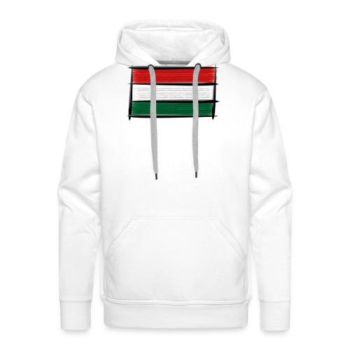 Art Flagge Ungarn - Männer Premium Hoodie