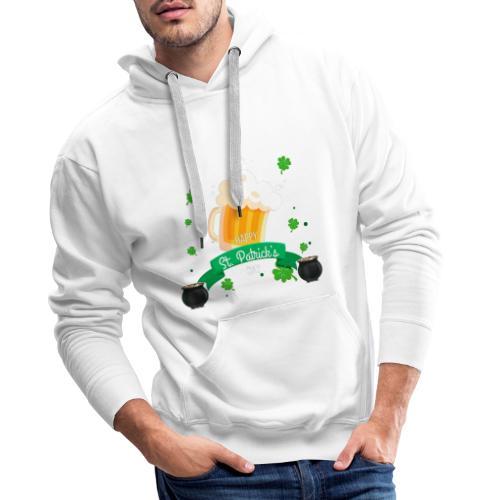 Happy St Patrick's tee shirt - Sweat-shirt à capuche Premium pour hommes