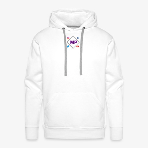 MP logo with social media icons - Men's Premium Hoodie