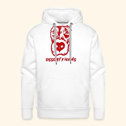 Logo ROSSO TRASPARENTE creative - Felpa con cappuccio premium da uomo