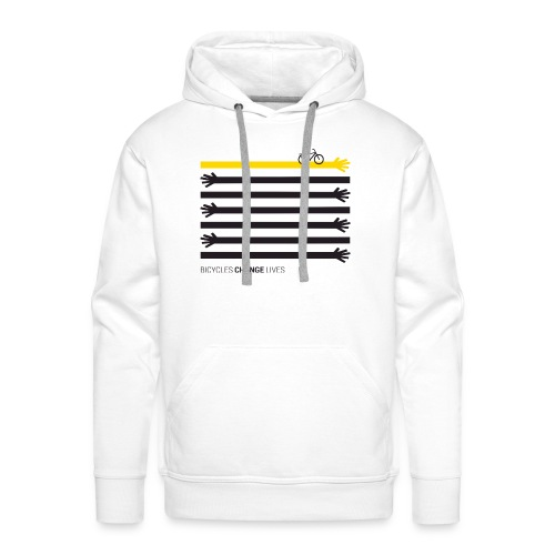 BCL Black Hands One Yellow - Men's Premium Hoodie