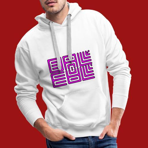 Baleal Purple Serie Naked - Sweat-shirt à capuche Premium pour hommes