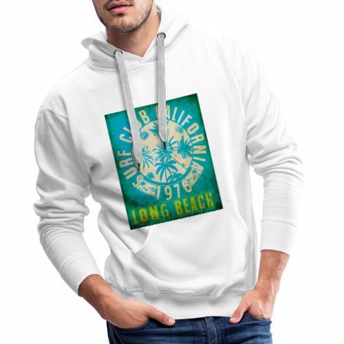 Long Beach Surf Club California 1976 Gift Idea - Men's Premium Hoodie