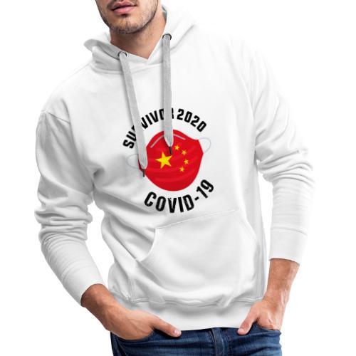 Survivor Covid 19 China - Sudadera con capucha premium para hombre
