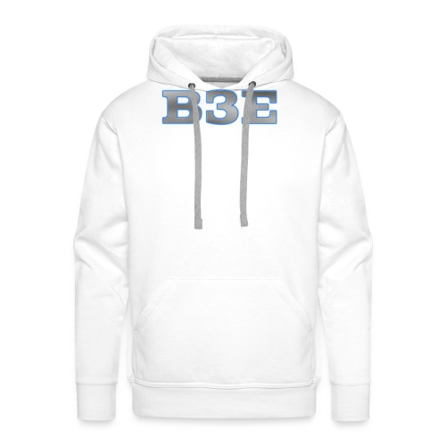 B3E: Logo - GlowingSteel - Men's Premium Hoodie