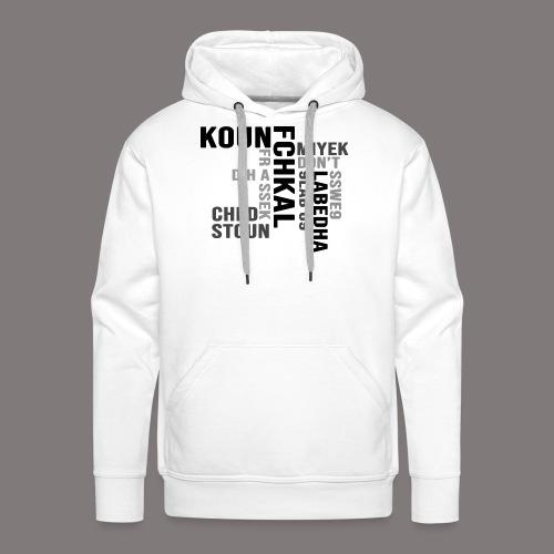 KOUN FCHKAL Nuance de gris - Sweat-shirt à capuche Premium pour hommes