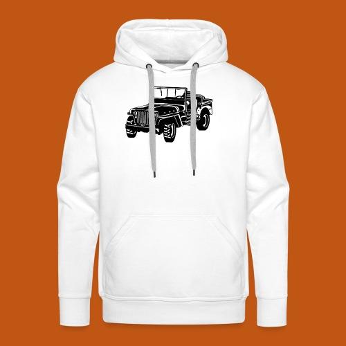 Geländewagen / Jeep SUV 02_schwarz weiß - Männer Premium Hoodie