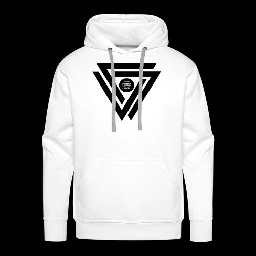 07logo complet black - Sweat-shirt à capuche Premium pour hommes